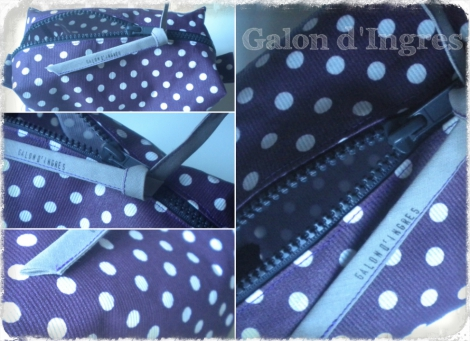 trousse, toilette, violet, pois, enduit, Galon d'Ingres