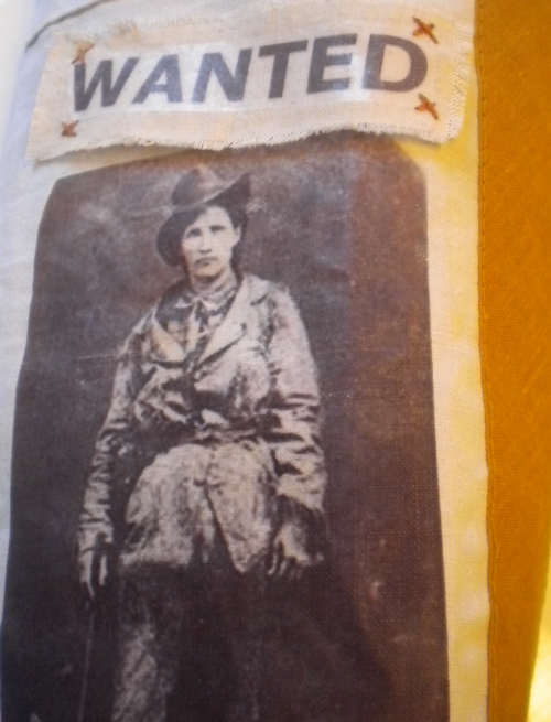 Calamity Jane, transfert textile, coton, vieille photo